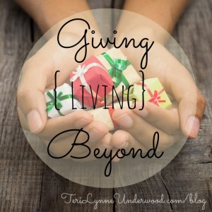 helping others during the holidays    TeriLynneUnderwood.com