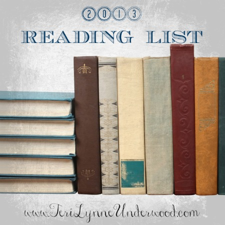 2013 Reading List www.terilynneunderwood.com/blog