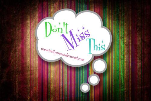 don't miss this www.terilynneunderwood.com/blog