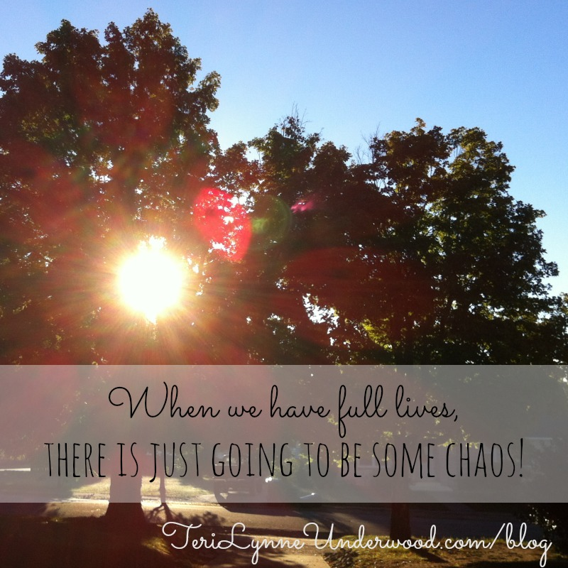embrace a little chaos || 31 Days of Living Well || TeriLynneUnderwood.com/blog