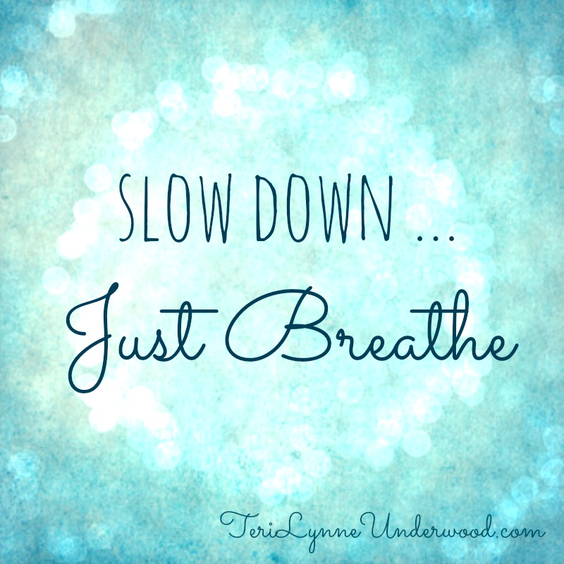 just breathe || 31 Days of Living Well || TeriLynneUnderwood.com