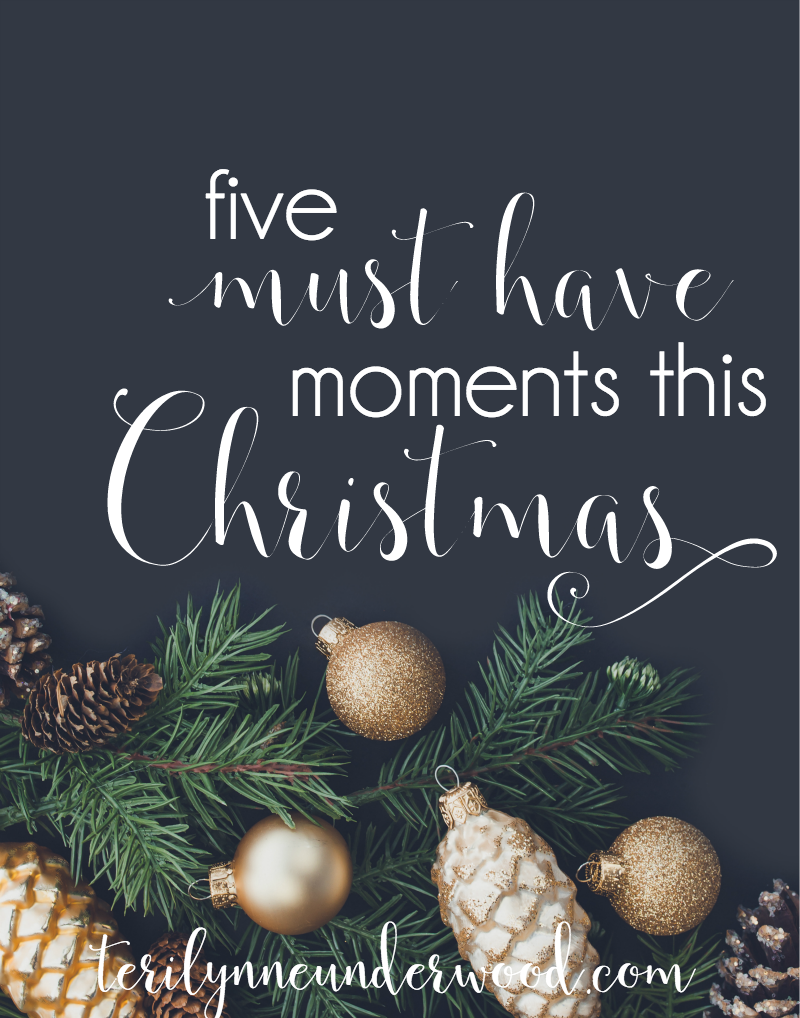 what are your must have moments this Christmas?