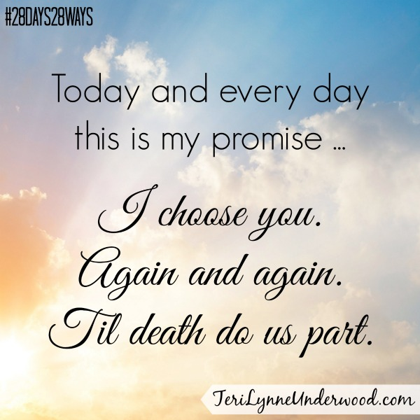 Choose Him Again || Teri Lynne Underwood