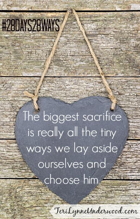 Make Small Sacrifices || Teri Lynne Underwood