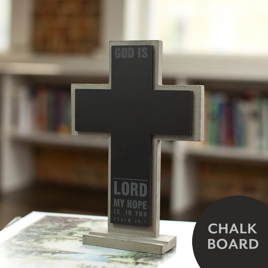 Dayspring God Is ... Chalkboard Cross