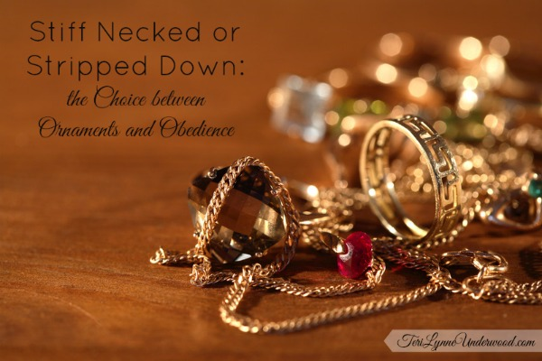 the choice between ornaments and obedience || TeriLynneUnderwood.com