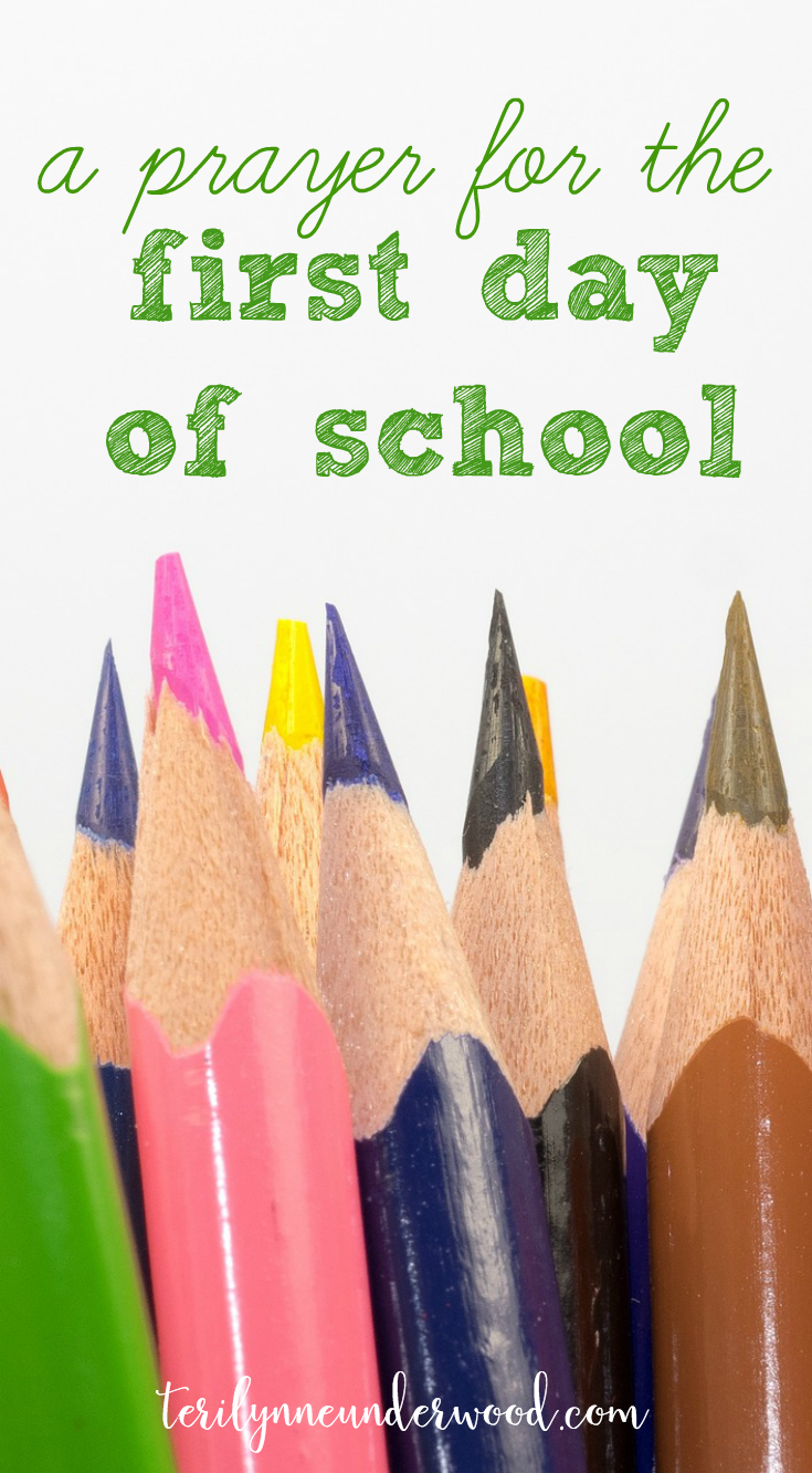prayer for students, teachers, and parents on the first day of school