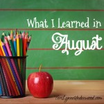 What I Learned August 2014 Square