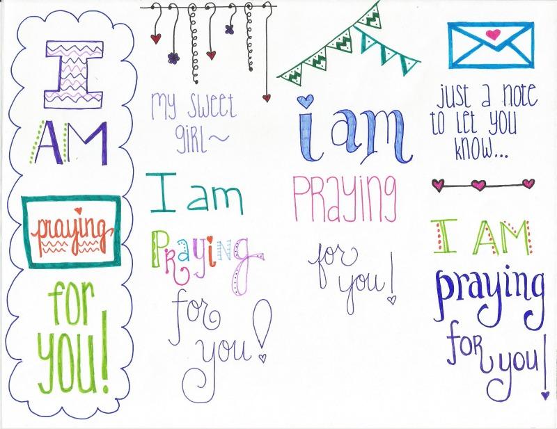 FREE Praying for You printable ... #PrayersforGirls