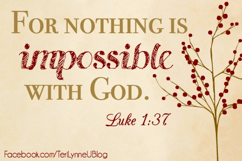 Because you doing it all this Christmas is impossible ... but God at work in you and through you makes what is possible even more amazing!