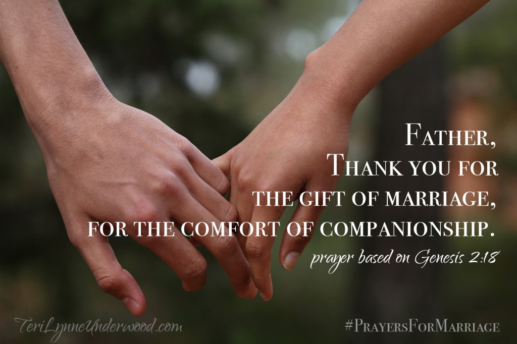 31 verses to pray for your marriage: genesis 2:18
