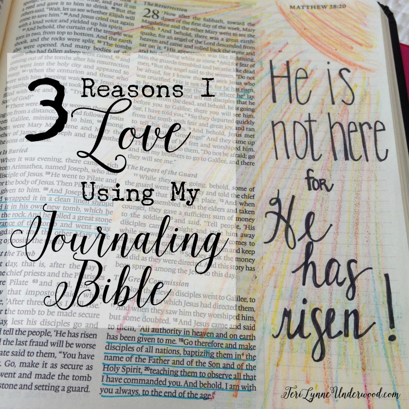 3 Reasons I Love Using my Journaling Bible