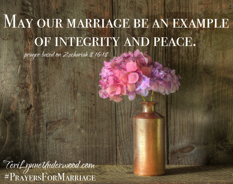31 Verses to Pray for Your Marriage || Zechariah 8:16-18