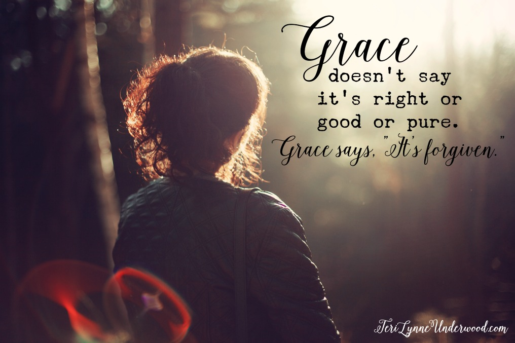 """5000 shades of grace ... because grace says, """"It's forgiven."""""""