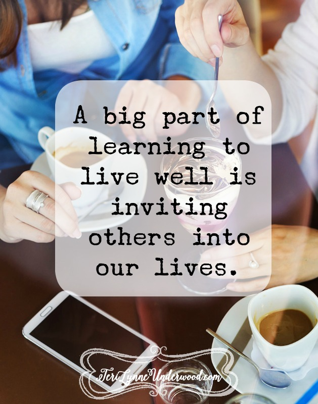 what if we invite others to our sticky tables? {10 ways to live well in today's world}