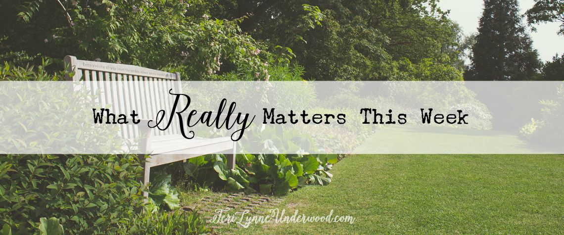 prioritize what really matters this week