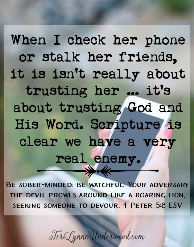 Our adversary is real and he is active ... and I am going to stand in the gap between him and my girl as best I can.