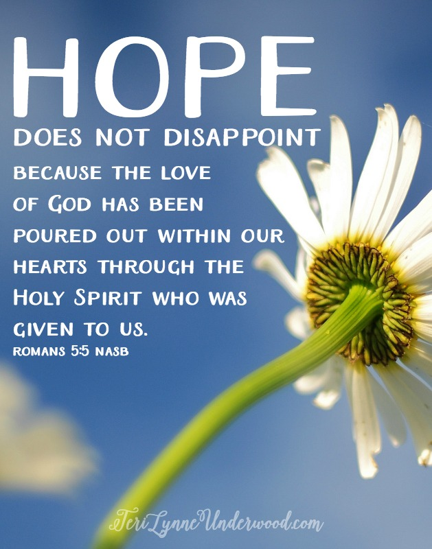 """In Christ, we have faith, hope, and love. And love reigns supreme. Because of God's great love for us {John 3:16}, we have hope. And our hope has a name: Jesus Christ. The very God who wrapped Himself in flesh and """"moved into the neighborhood"""" {John 1:14 MSG} is our hope."""