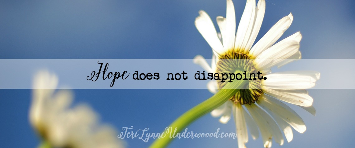 People and circumstances will often leave us disappointed. But, as believers, we can have confidence that even when the things of this world are not what we desire, hope does not disappoint.
