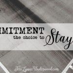 Commitment: the Choice to Stay