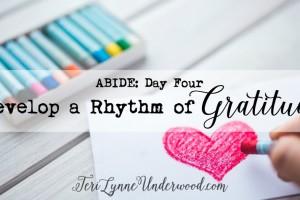 {ABIDE Day 4} Develop a Rhythm of Gratitude