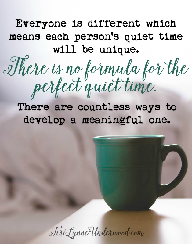 While there is no formula for a perfect quiet time, an effective one will contain prayer, Bible reading, and response.