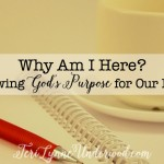 Why Am I Here? Knowing God's Purpose for Our Lives