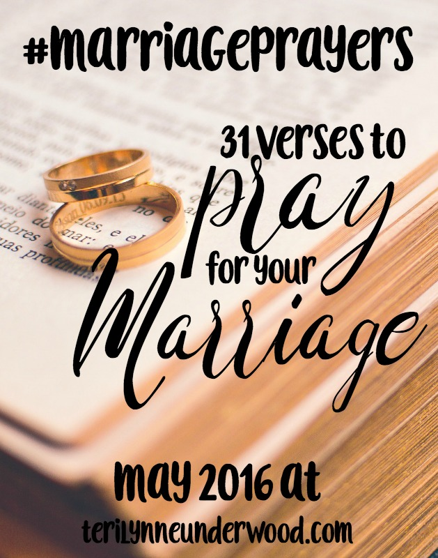 Join Scott and Teri Lynne Underwood in May for #MarriagePrayers ... 31 verses to pray for your marriage