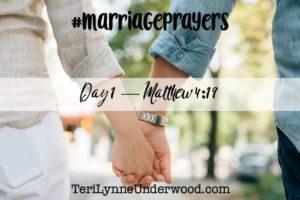 #MarriagePrayers: Matthew 4:19