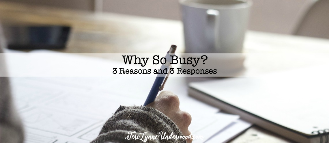 There's good busy and there's bad busy. I know, it all makes our calendars look crazy. But the truth is, there are times when life is just busy and it's for all the right reasons. And then there are the other times — you know, when we've let things get out of control and we need a reality check.