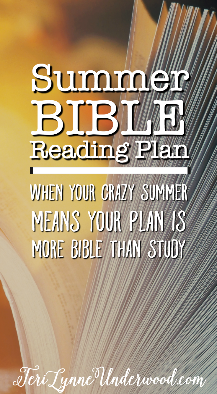 a Bible reading plan for when your crazy summer means you need more Bible than study