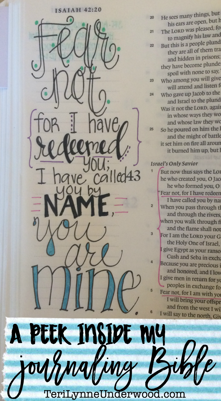 There are so many ways to use a journaling Bible! Here's a peek inside two of mine as well as my quiet time notebook.