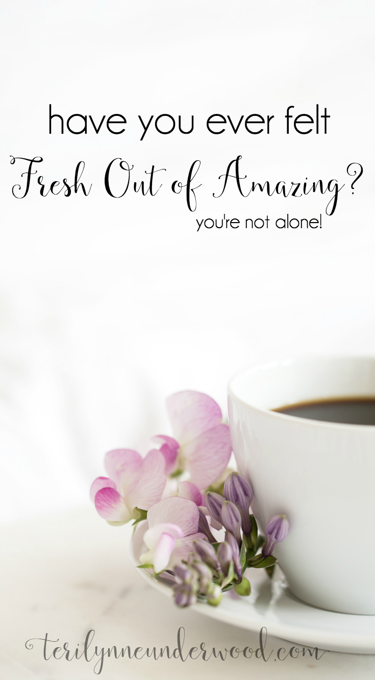 "If I could, I would give every woman I know a copy of ""Fresh Out of Amazing."" Stacey Thacker has written a book for all of us who have felt the weight of not having enough or being enough. Her writing is full of grace and truth and points straight back to the Word of God."