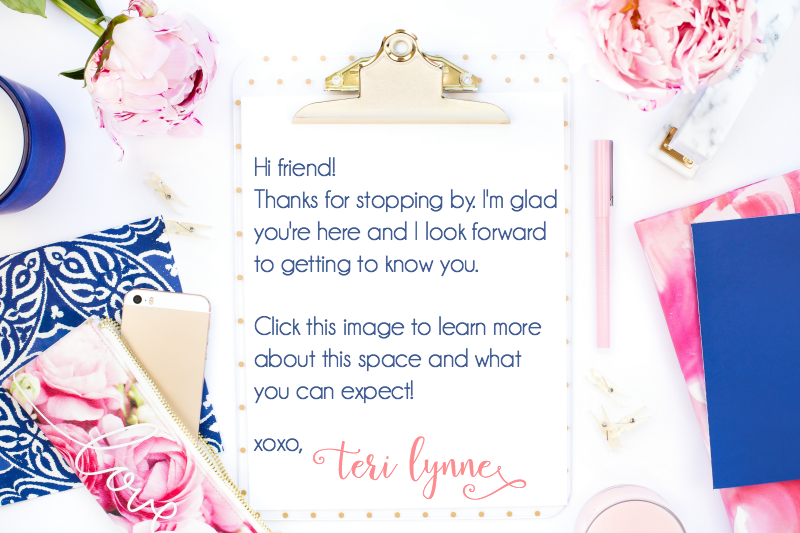 Teri Lynne Underwood || encourager of busy women and girl moms