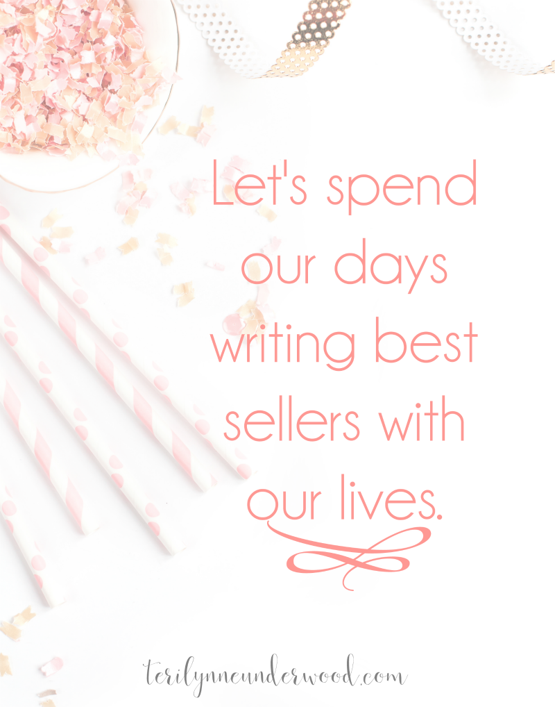 Don't underestimate the value of a small change to have a huge impact! Let's be women who are spending our days to write best sellers with our lives!