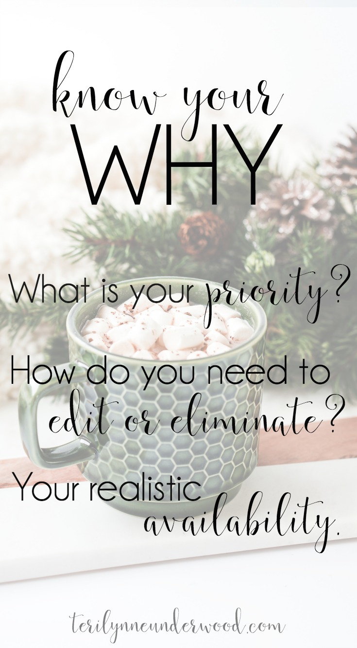 What's your WHY? 3 questions to help you have your best Christmas