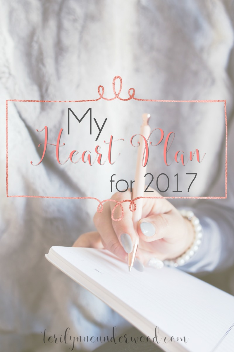 Maybe you need a heart plan for 2017? An intentional path toward experiencing all God has for you in the coming year.