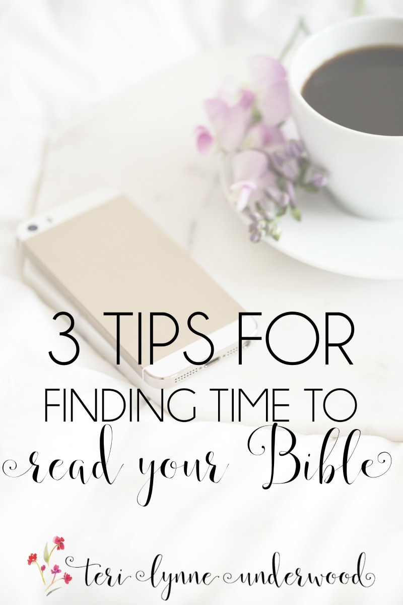 Have you struggled to find time to read your Bible lately? It happens to all of us. Teri Lynne shares 3 no guilt, no shame tips for finding time for reading your Bible.