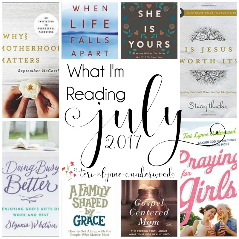 What I'm Reading {July 2017} which is actually what I can't wait to read. Books on my shelf and on pre-order.