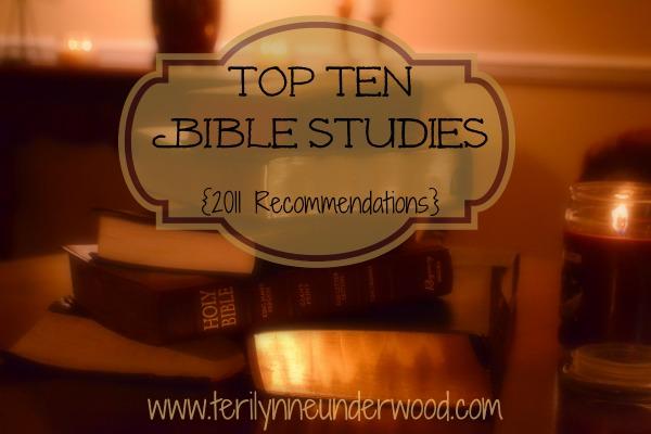 Top Ten Bible Studies {2011 Recommendations}
