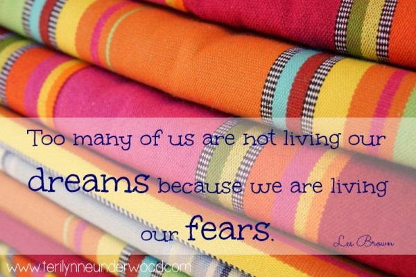 Living Our Fears or Living Our Dreams {a God-sized dreams post}