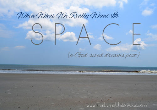 When What You Really Want Is Space  {a God-sized dreams post}