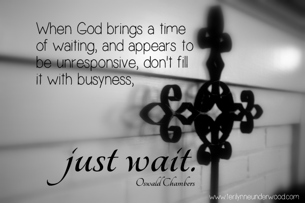 A Time of Waiting