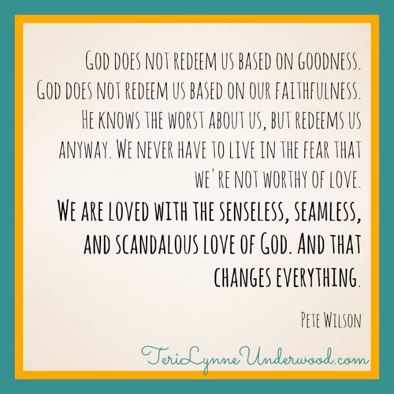{encouraging words} His Love Changes Everything