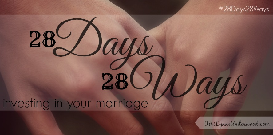 28 Ways to Invest in Your Marriage {for wives}