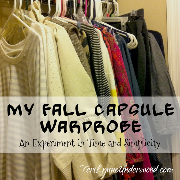 My Fall Capsule Wardrobe {an experiment}