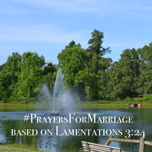 31 Verses to Pray for Your Marriage {Lamentations 3:24}