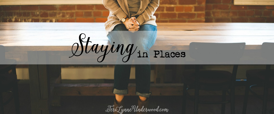 "Whenever I hear someone discuss a situation where they feel dissatisfied and begin to explain why God wouldn't want them to be there, I always wonder to myself, ""What if those things are exactly the reason God does want you there?"" There is often value when we stay in places … even the hard and uncomfortable places."