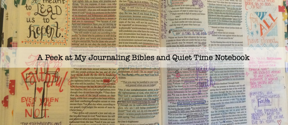 A Peek at My Journaling Bibles