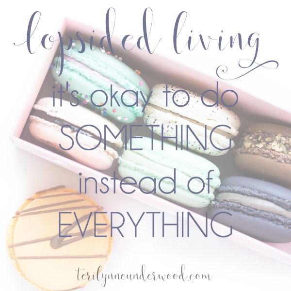 It's Okay to Do Something instead of Everything